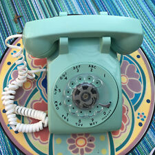 Vintage Telephone New England Tel. & Tel. Co. Turquoise - Cleaned & Tested NICE!