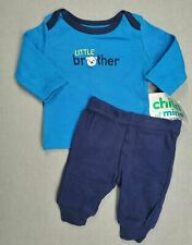 Baby Boy Clothes New Child Mine Carter's Preemie 2PC Little Brother Dog Outfit