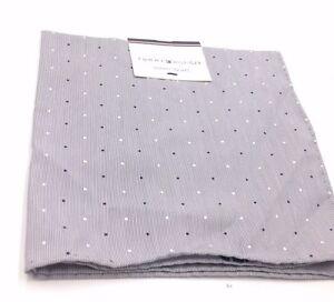 $125 Tommy Hilfiger Mens Blue White Polka Dot Handkerchief Classic Pocket Square