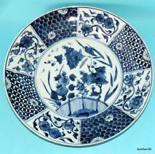 CHINESE PORCELAIN ANTIQUE CHARGER 18thc BLUE WHITE KANGXI