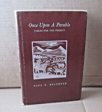 PAUL BEICHNER woodcuts Once Upon a Parable autograph book Fables signed 1974