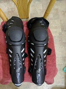 Fox Titan Pro Knee/Shin Guards Black One Size Adult