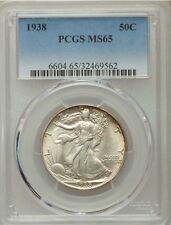 1938-P Walking Liberty Silver Half Dollar 50C PCGS MS65