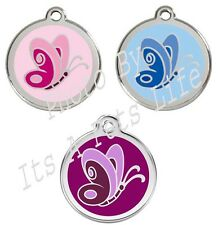 Butterfly Enamel/Solid Stainless Steel Engraved ID Dog/Cat Tag