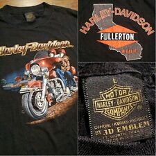 3D Emblem Harley Davidson T Shirt 1983 ROAD KING Fullerton California RARE USA L