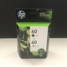 New Sealed HP 60 Black + 60 Tri-Color Ink Cartridge Combo Pack CD947FN 05/2015