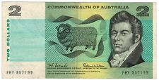 Reserve Bank of Australia 1966 ND Issue 2 Dollars Pick #38a Coombs/Wilson Note