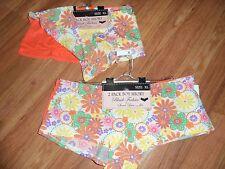 4 panties hipster boy cut briefs ~ XL / 8 ~ orange boy short ~ polyester