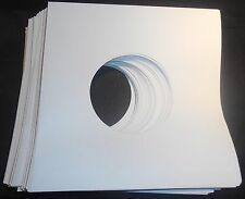 "Package of 100, 45 rpm 7"" Record Sleeves 20# White Paper.  100% acid-free."