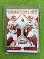 BAKER MAYFIELD ROOKIE CARD MARK ANDREWS RC OKLAHOMA 2018 Panini Contenders #8 OU
