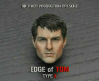 "1/6 Tom Cruise Male Head Carved Sculpt Brother Production F 12"" Action Figure"