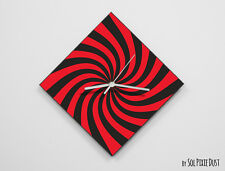 Red Retro Optical Illusion Wall Clock