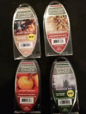 Yankee Candle Wax Melts Lot 4 Warm And Cozy, Autumn Wreath, Spiced Pumpkin &.