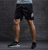 Men's Sports Sweat Shorts Pants Training with Zipper Pockets Casual Gym Running