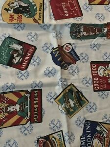 2  Vintage Wamsutta  FOOD HOME COOKING PIE ETC Pillowcases