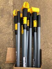 "Rubbermaid Fiberglass Gripper Clamp Mop Head Handle 60"" Yellow Gray Lot of 12"