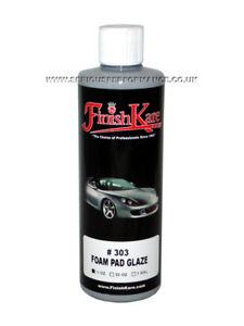 FINISH KARE #303 FOAM PAD GLAZE CAR DETAILING POLISH GLAZE - 15oz / 444ml BOTTLE