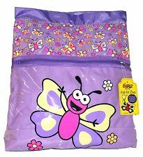 Bugzz Kids Purple Butterfly School Kit Bag Childrens Childs Girls Swim Gym Bag