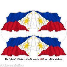 """PHILIPPINES Philippine Flying Flag, Pilipinas 50mm (2"""") Vinyl Sticker, Decal x4"""