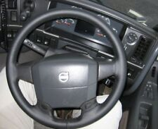 FITS VOLVO V70 96-07 REAL BLACK ITALIAN LEATHER STEERING WHEEL COVER NEW