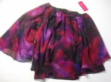 New Sunny Leigh One Shoulder Top Blouse XL Multi Color Abstract