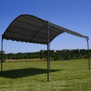 Steel Frame Gazebo Retractable Canopy Outdoor Garden Shade 3x4m Water Resistant