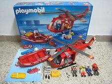 Playmobil - Rescate - Vehiculo Helicoptero Barca Zodiac - 4428 - (COMPLETO) OVP