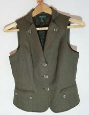 Ladies Ralph Lauren Virgin Wool Tweed Waistcoat  (Size 8UK)