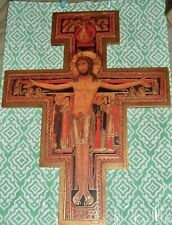16 inch SAN DAMIANO CRUCIFIX Wooden Cross NEW  St Saint Francis Franciscan