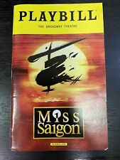 MISS SAIGON March 2017 Broadway Playbill! EVA NOBLEZADA Jon Jon Briones +!