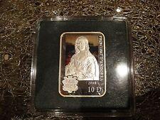 Andorra 10 D silver rectangular coin proof