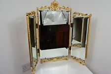 VINTAGE 1940's BAROQUE REGENCY STYLE GOLD WOOD TABLE MIRROR UK MADE