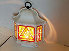 VINTAGE BLATZ LIGHTED BEER SIGN 3 SIDED LANTERN (GREAT CONDITION) MAN CAVE BAR