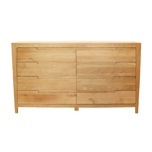 New Vogue Solid American Oak 8 Drawer Large Chest/Tallboy