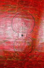 Authentic Aboriginal Art - RONNIE TJAMPITJINPA - 2008 - Working Photos