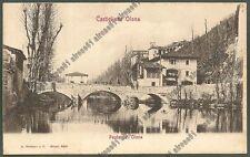 VARESE BUSTO ARSIZIO 34 PONTE Fiume OLONA Cartolina viaggiata 1906 Ediz. MODIANO