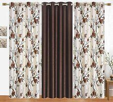 New 3 Piece Eyelet Door Curtain Set - 7 ft