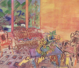 "Raoul Dufy ""Vernet-les-Bains"" printed by Mourlot"