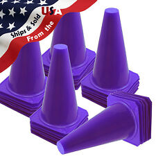 New 9� Tall Purple Football Field Safety Cones Qty 30