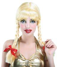 PigTail Blonde Fancy Dress Wigs