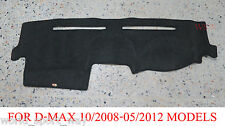 DASH MAT FOR ISUZU D-MAX 10/2008-05/2012 MODELS Charcoal DASHMAT DMAX UTE
