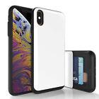 For iPhone 11 X XS Max XR 8 7 SE 2020 Hidden Card Slide Slot Storage Wallet Case