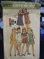 Simplicity 9902 Girl's Dress & Culotte Dress Pattern - Size 7 Bust 26