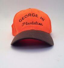 George HI Plantation Optic Orange Brown Cap Hat One Size Hunting Fishing NC