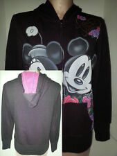 WALT DISNEY Mickey Minnie Mouse Womens Hoodie Sweathshirt Jacket Medium Purple