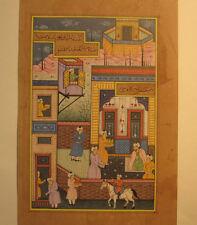 02 An old look Persian Primitive Artwork Miniature Paper Painting Turkish Arabic