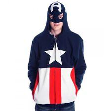 Captain America Costume Hoodie New