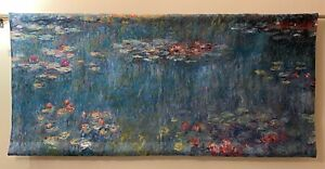 Real Tapestry Wall Hanging + Monet Water Lily (W143cm x H60cm)