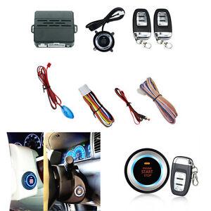 Car Engine Start Ignition Starter Push Button Audible Alarm Car Security System