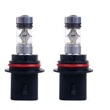 2x 9004 100W White Fog Driving Running Light 20LED Bulbs Headlight High Power US